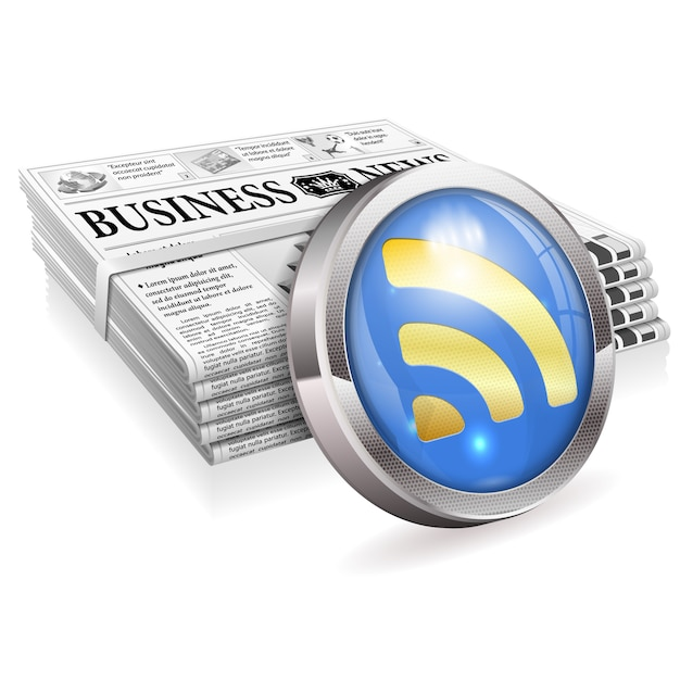 Notizie digitali Vettore Premium