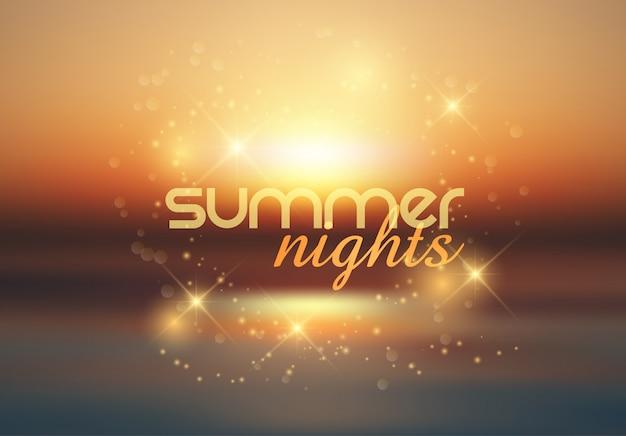 Notti d'estate sullo sfondo Vettore gratuito