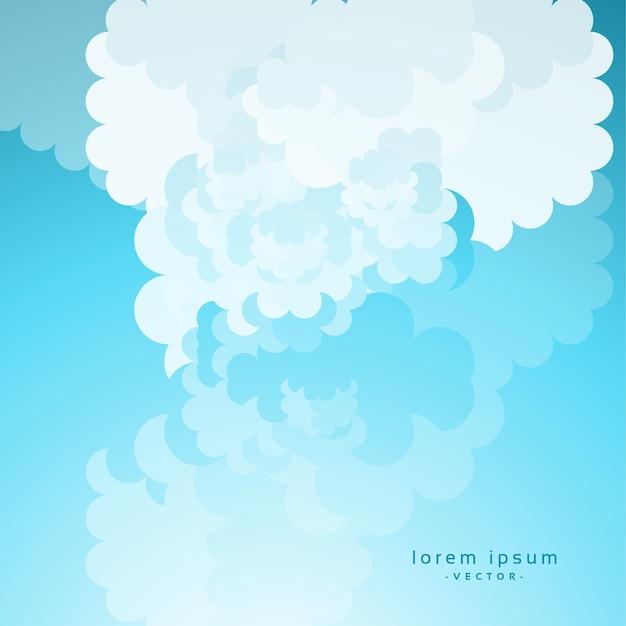 Nube di cartone animato su sfondo blu del cielo