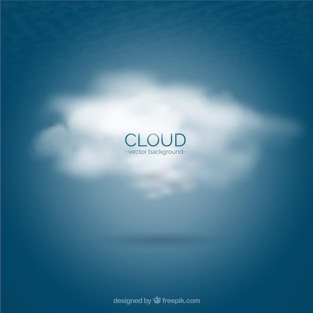 Nube di sfondo Vettore gratuito