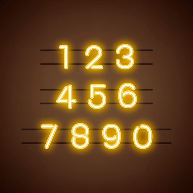 Numero 0-9 vettore del sistema numerico Vettore gratuito