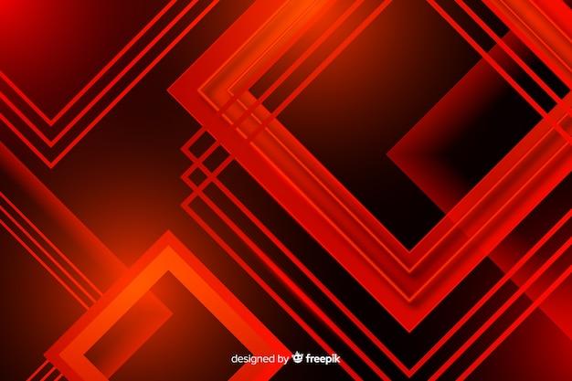 Numerose luci rosse quadrate che si intersecano Vettore gratuito
