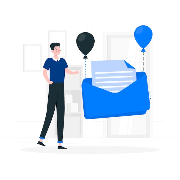 Nuova illustrazione del concetto di messaggio Vettore gratuito