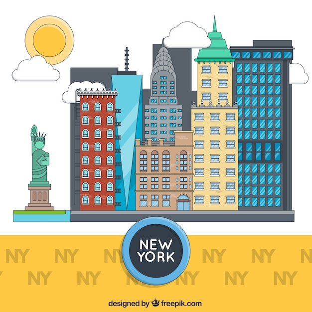 Nuovi edifici york Vettore gratuito