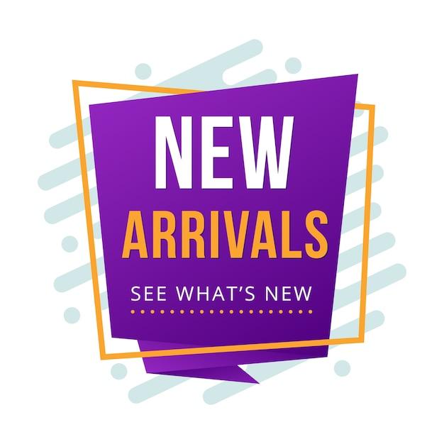 Nuovo arrivo banner origami piegati Vettore Premium