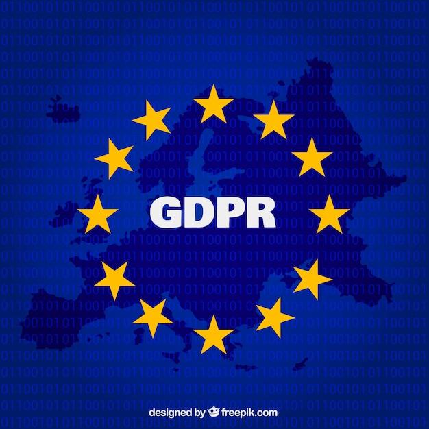 Nuovo concetto europeo di gdpr Vettore gratuito