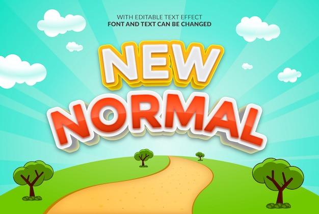 Nuovo design normale con effetto di testo modificabile Vettore Premium