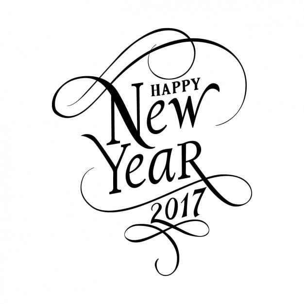 Nuovo design year background Vettore gratuito