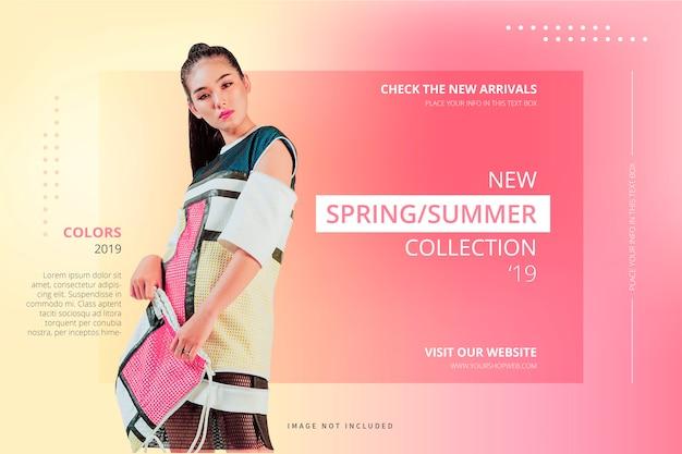Nuovo modello di sfondo collection Vettore gratuito