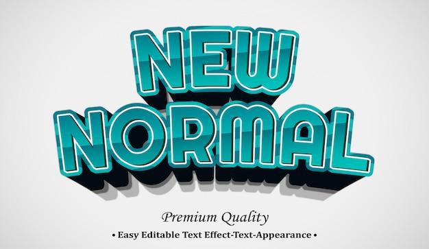 Nuovo normale effetto in stile carattere 3d Vettore Premium