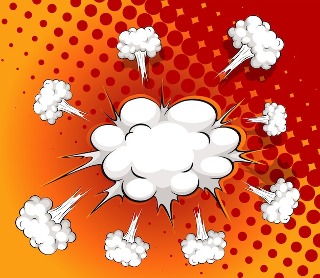 Nuvola comica Vettore gratuito