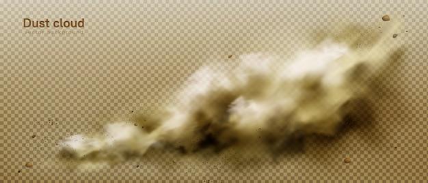 Nuvola di polvere, fumo marrone sporco, smog pesante e denso Vettore gratuito