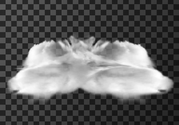 Nuvola realistica su trasparente Vettore gratuito