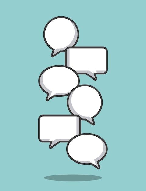 Nuvoletta di comunicazione Vettore Premium