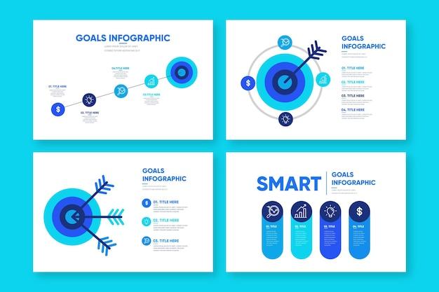 Obiettivi infografica Vettore gratuito
