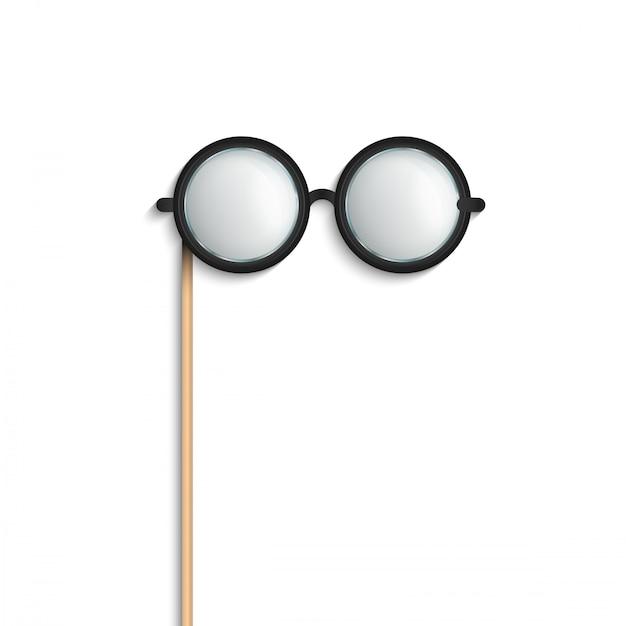Occhiali da vista, occhiali da vista oggetti di scena. Vettore Premium