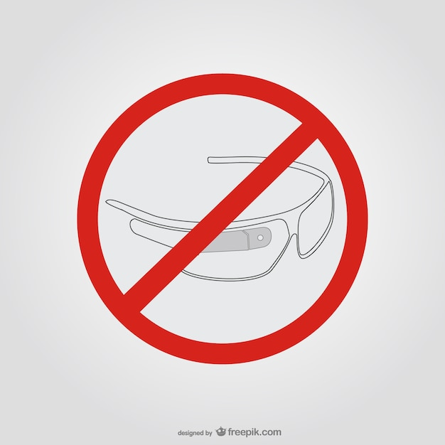 Occhiali google fermano segno Vettore gratuito