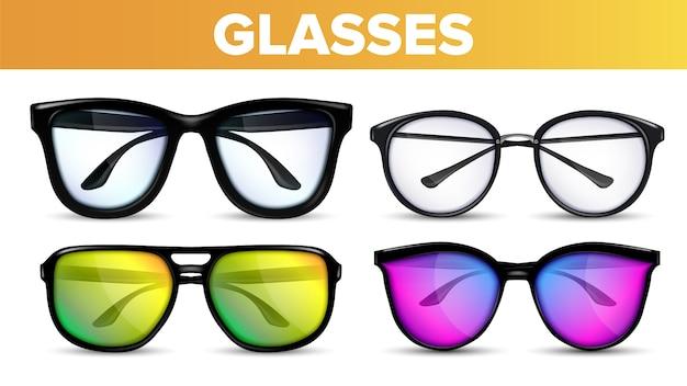Occhiali moderni e vintage Vettore Premium