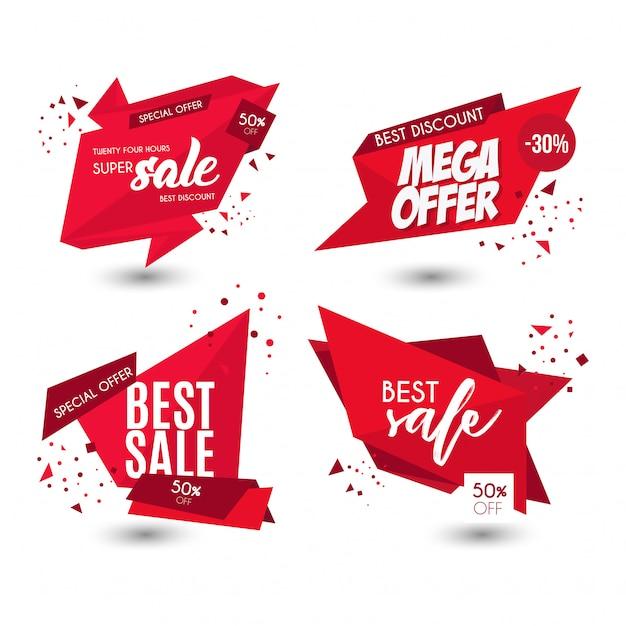 Offerta moderna vendita banner Vettore gratuito
