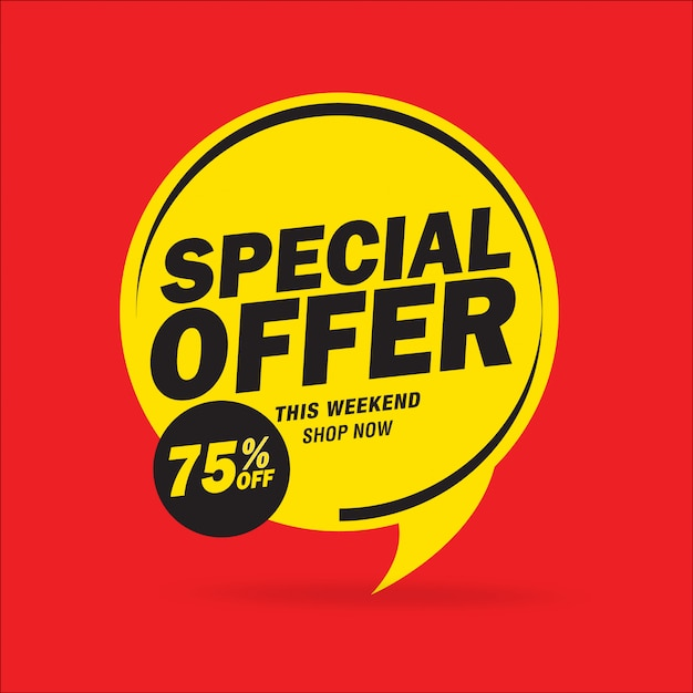 Offerta speciale di vendita e progettazione di cartellini dei prezzi Vettore Premium