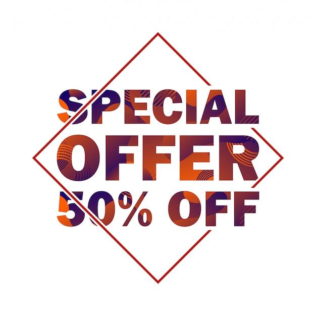 Offerta speciale scontata del 50% Vettore Premium