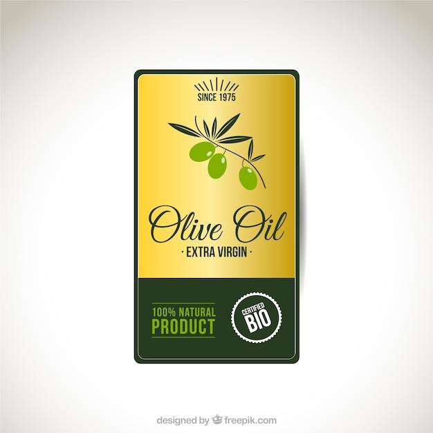 Ben noto Olio di oliva etichetta | Scaricare vettori gratis CV52