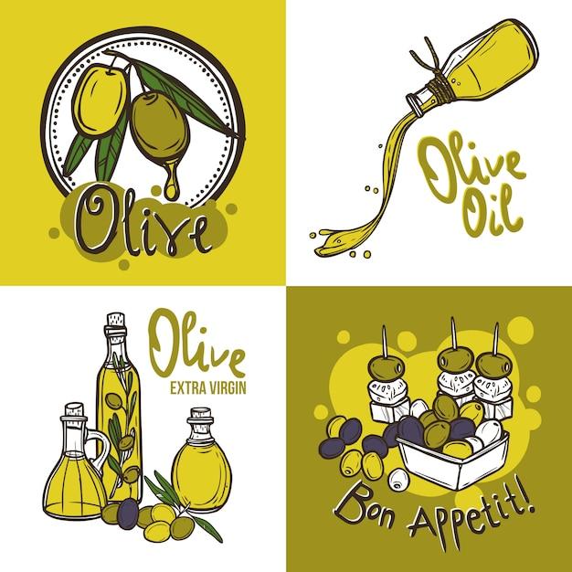 Olive design concept Vettore gratuito