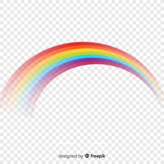 Onda arcobaleno colorato isolato su trasparente Vettore gratuito