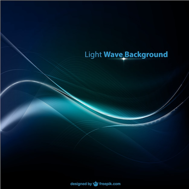 Onda sfondo azzurro Vettore gratuito