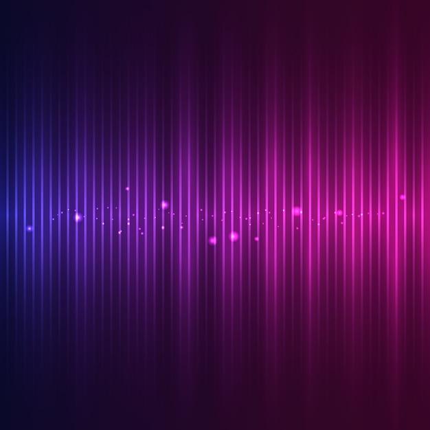 Onda sonora con effetti particellari Vettore Premium