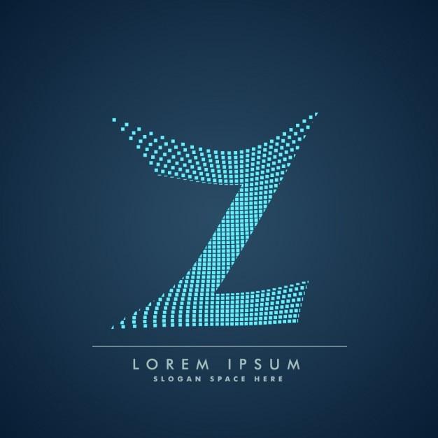Ondulato logo lettera z in stile astratto Vettore gratuito