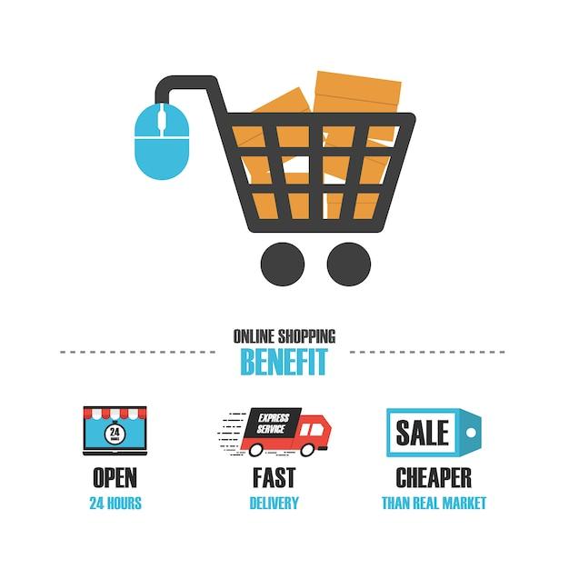 Online modelli di shopping logo Vettore gratuito