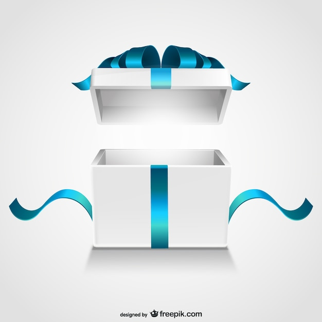 Open gift box Vettore gratuito