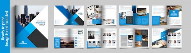 Opuscolo aziendale di sedici pagine Vettore Premium