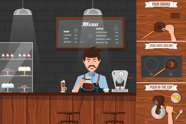 Opuscolo del barista Vettore gratuito