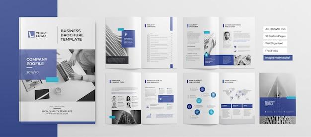 Opuscolo professionale o presentazione aziendale Vettore Premium