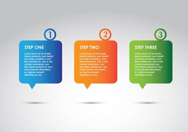 Opzioni di infografica Vettore Premium