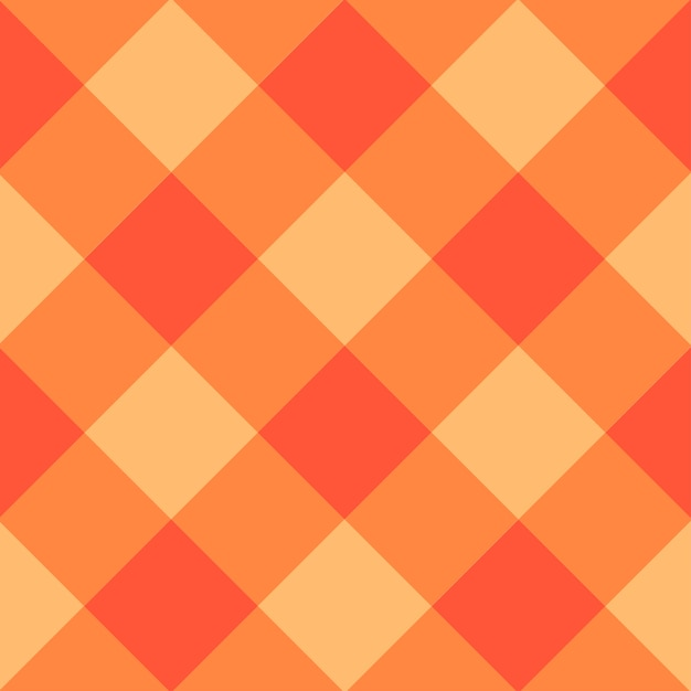Orange diamond chessboard background Vettore Premium