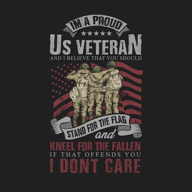 Orgoglioso di essere un veterano americano Vettore Premium