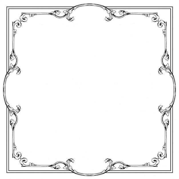 Ornamento barocco decorare Vettore Premium