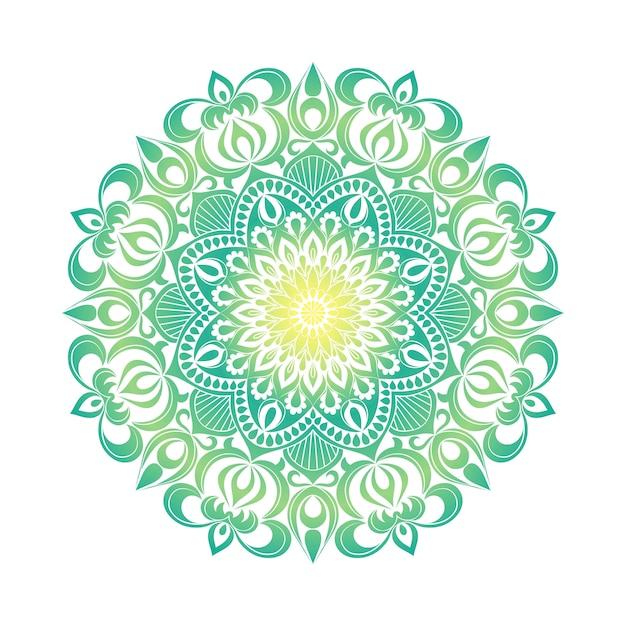 Ornamento mandala. elementi decorativi vintage. modello rotondo orientale disegnato a mano Vettore Premium