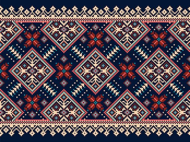 Ornamento popolare senza cuciture ucraino Vettore gratuito