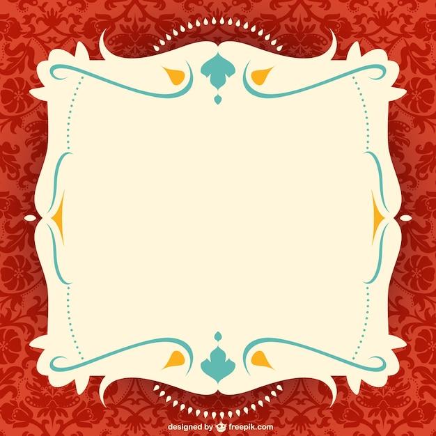 Ornate frame vector Vettore gratuito