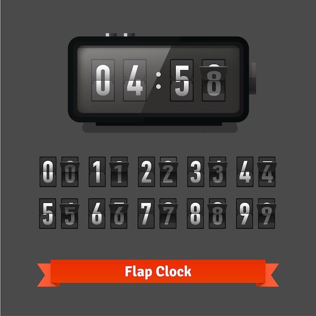 Orologio a banco e contatore numerico Vettore gratuito