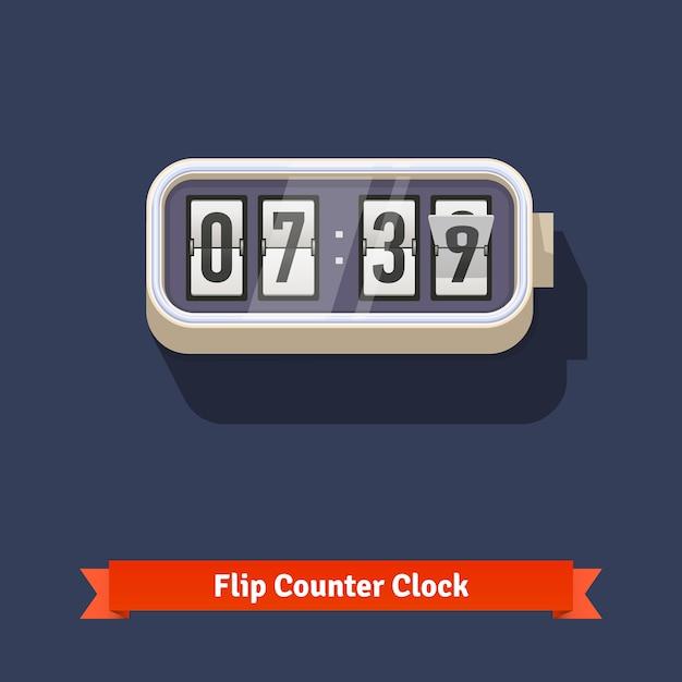 Orologio da parete e numeri di contatore del numero Vettore gratuito