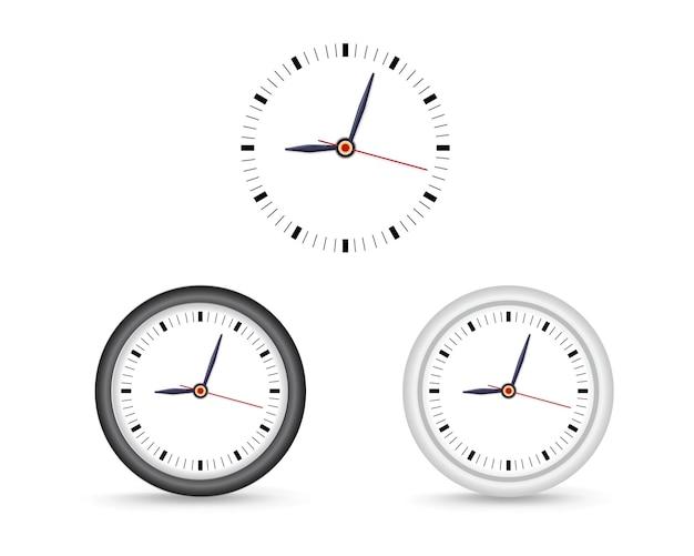 Orologio da parete semplice. mock-up per il branding e la pubblicità Vettore Premium