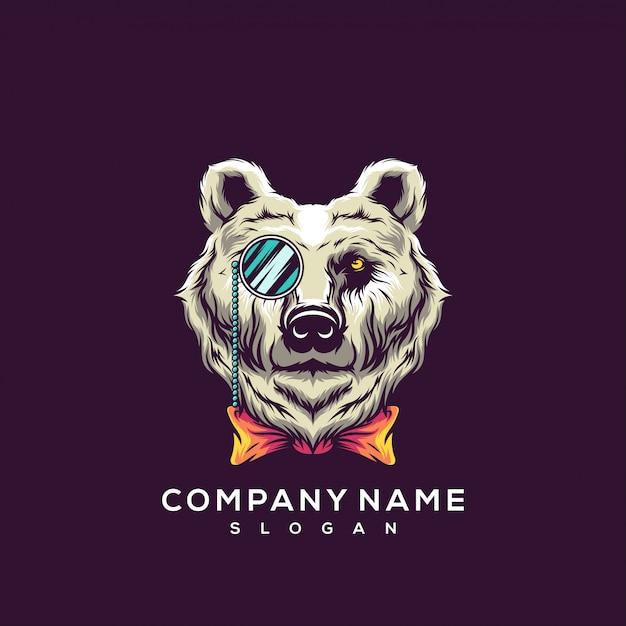 Orso logo Vettore Premium
