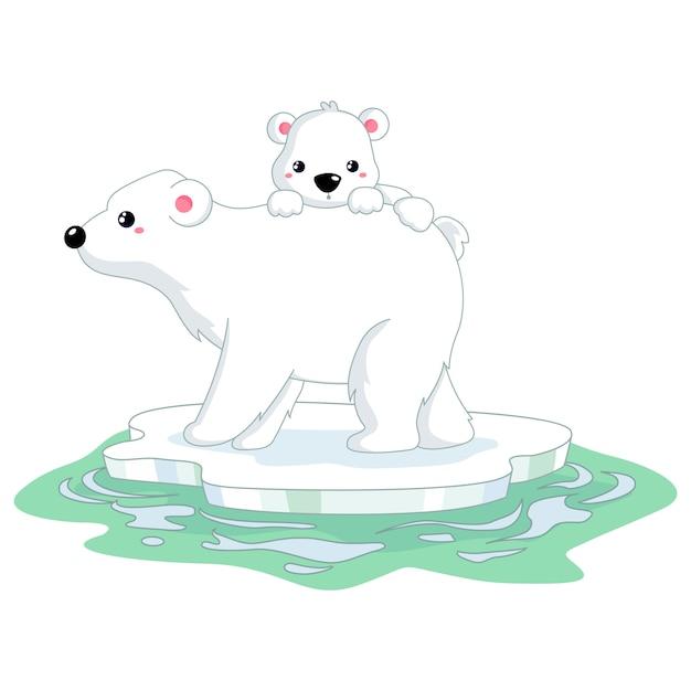 Orso polare Vettore Premium