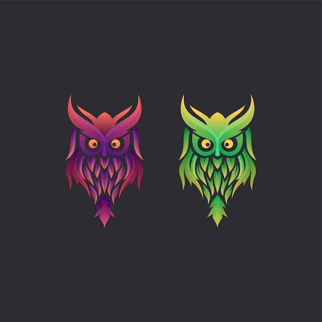 Owl logo ideas Vettore Premium