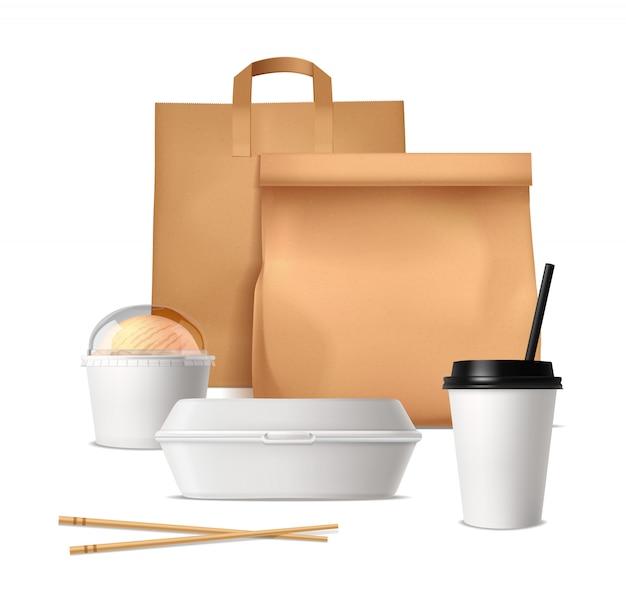 Pacchetti di fast food Vettore gratuito